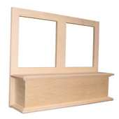 Accent Hood Straight with Liner for Broan Ventilation,  Available in Multiple Wood Species & Sizes