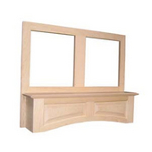 Accent Hood, Arched with Liner for Broan Ventilation, Available in Multiple Sizes and Woods