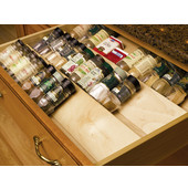 Wood Spice Drawer Insert, 22'' W