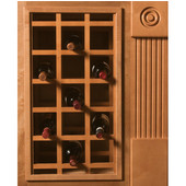 Sonoma Series Cabinet Mount Wine Lattice, available in multiple bottle capacities and wood species