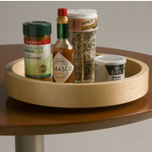 10'' Diameter Select Spice Maple Wood Lazy Susan for Table Top or Wall Cabinet