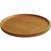 Select Series 18'' Dia Full Round Maple Wood Lazy Susan with Attached Cast Bearing and 1'' Lip, 1 Pair