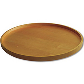 Select Series Two 18'' Dia Full Round Maple Wood Lazy Susan Shelves Pre-assembled with Swivel Bearing & Mounting Plate