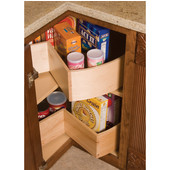 30'' Diameter Maple Wood Deep Bin Super Susan w/ 6'' Lip. Ideal for Kitchen Appliances & Bulk Food Storage