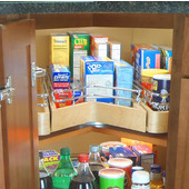 Easy Access Corner Pantry, Single Shelf Unit with Full Extension Drawer