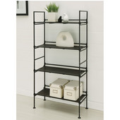 Ebonize Collection 4 Tier Shelf, 25-3/8''W x 11-3/8''D x 45-3/8''H