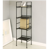 Ebonize Collection 4 Tier Square Shelf, 13-1/8''W x 11-3/8''D x 45-3/8''H
