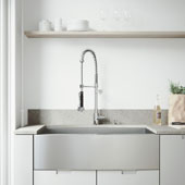 Camden Collection Farmhouse Stainless Steel Kitchen Sink, Faucet and Dispenser