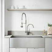 Camden Collection All in One 36'' Farmhouse Stainless Steel Kitchen Sink and Faucet Set, VIG-VG15141