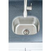 18 Gauge Single-Bowl Undermount Stainless Steel Sink Matte Finish, 15''W x 12 3/4''D x 7''H