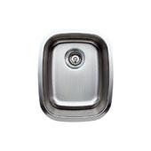 18 Gauge Single-Bowl Undermount Stainless Steel Sink Matte Finish, 15-1/4''W x 19''D x 7''H