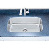 18 Gauge Single-Bowl Undermount Stainless Steel Sink Matte Finish, 31-1/2''W x 18-1/2''D x 10''H
