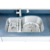 """Craftsmen Series 18 Gauge 30/70 Double-Bowl Undermount Stainless Steel Sink, Large Bowl Right, Package Includes 2 Grids and 2 Strainers, 31-1/2''W x 20-1/2""""D x 9''H"""