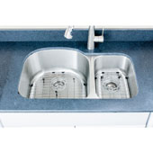 """Craftsmen Series 18 Gauge 30/70 Double-Bowl Undermount Stainless Steel Sink, Large Bowl Left, Package Includes 2 Grids and 2 Strainers, 31-1/2''W x 20-1/2""""D x 9''H"""