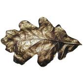 Woodland Collection 4-5/8'' Wide Oak Leaf Cabinet Bin Pull in Antique Brass, 4-5/8'' W x 1'' D x 2-3/4'' H