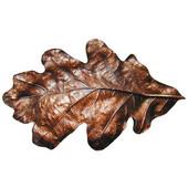 Woodland Collection 4-5/8'' Wide Oak Leaf Cabinet Bin Pull in Antique Copper, 4-5/8'' W x 1'' D x 2-3/4'' H