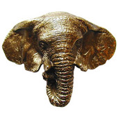 Lodge & Nature Collection 3-5/8'' Wide Goliath (Elephant) Cabinet Bin Pull in Antique Brass, 3-5/8'' W x 1'' D x 2-3/4'' H