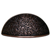 Classic Collection 3-5/8'' Wide Saddleworth Cabinet Bin Pull in Antique Copper, 3-5/8'' W x 7/8'' D x 2'' H