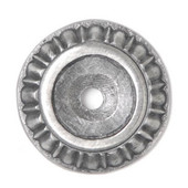 King's Road Collection 1-1/8'' Diameter Kensington Round Cabinet Backplate in Antique Pewter, 1-1/8'' Diameter x 1/8'' D