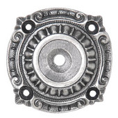 King's Road Collection 1-1/2'' Diameter Queensway Round Cabinet Backplate in Antique Pewter, 1-1/2'' Diameter x 1/8'' D
