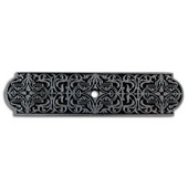 Classic Collection 3-7/8'' Wide Renaissance Rectangle Backplate in Brilliant Pewter, 3-7/8'' W x 1/8'' D x 15/16'' H
