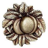 Kitchen Garden Collection 1-5/8'' Diameter Georgia Peach Cabinet Knob in Antique Brass, 1-5/8'' Diameter x 7/8'' D