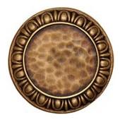 Initial Collection 1-3/8'' Diameter Egg & Dart Round Cabinet Knob in Antique Brass, 1-3/8'' Diameter x 7/8'' D