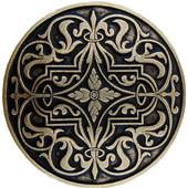Classic Collection 1-7/16'' Diameter Renaissance Round Cabinet Knob in Brite Brass, 1-7/16'' Diameter x 7/8'' D