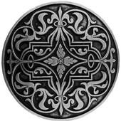 Classic Collection 1-7/16'' Diameter Renaissance Round Cabinet Knob in Brilliant Pewter, 1-7/16'' Diameter x 7/8'' D