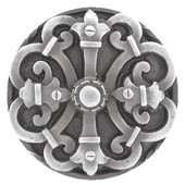 Chateau Collection 1-5/8'' Diameter Chateau Round Cabinet Knob in Antique Pewter, 1-5/8'' Diameter x 7/8'' D