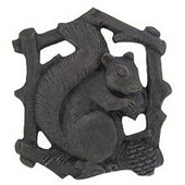 Woodland Collection 1-1/2'' Wide Grey Squirrel Left Side Cabinet Knob in Dark Brass, 1-1/2'' W x 7/8'' D x 1-5/8'' H
