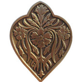 English Garden Collection 1-1/2'' Wide Dianthus Cabinet Knob in Antique Brass, 1-1/2'' W x 7/8'' D x 1-7/8'' H