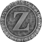 Initial Collection 1-3/8'' Diameter Initial Z Round Cabinet Knob in Antique Pewter, 1-3/8'' Diameter x 7/8'' D