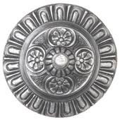 King's Road Collection 1-1/2'' Diameter Kensington Round Cabinet Knob in Antique Pewter, 1-1/2'' Diameter x 1-3/8'' D