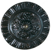 King's Road Collection 1-1/2'' Diameter Kensington Round Cabinet Knob in Dark Brass, 1-1/2'' Diameter x 1-3/8'' D