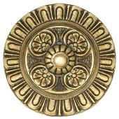 King's Road Collection 1-1/2'' Diameter Kensington Round Cabinet Knob in 24K Satin Gold, 1-1/2'' Diameter x 1-3/8'' D
