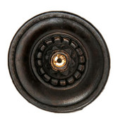 King's Road Collection 1-1/4'' Diameter Portobello Road (Crystals) Round Cabinet Knob in Dark Brass, 1-1/4'' Diameter x 1-1/2'' D
