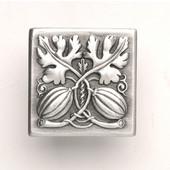 Kitchen Garden Collection 1-1/2'' Wide Autumn Squash Square Cabinet Knob in Antique Pewter, 1-1/2'' W x 7/8'' D x 1-1/2'' H