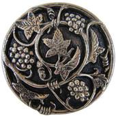Tuscan Collection 1-5/16'' Diameter Grapevines Round Cabinet Knob in Brite Nickel, 1-5/16'' Diameter x 7/8'' D