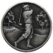 Pastimes Collection 1-1/8'' Diameter Gentleman Golfer Round Cabinet Knob in Antique Pewter, 1-1/8'' Diameter x 7/8'' D