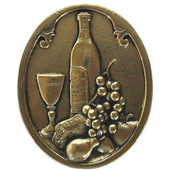 Tuscan Collection 1-1/4'' Diameter Best Cellar (Wine) Oval Cabinet Knob in Brite Brass, 1-1/4'' Diameter x 7/8'' D x 1-1/2'' H