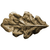 Woodland Collection 2-1/4'' Wide Oak Leaf Cabinet Knob in Antique Brass, 2-1/4'' W x 7/8'' D x 1-1/4'' H