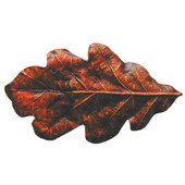 Woodland Collection 2-1/4'' Wide Oak Leaf Cabinet Knob in Hand-Tinted Antique Brass, 2-1/4'' W x 7/8'' D x 1-1/4'' H