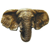 Lodge & Nature Collection 1-7/8'' Wide Goliath (Elephant) Cabinet Knob in Antique Brass, 1-7/8'' W x 1-1/4'' D x 1-1/4'' H