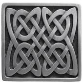 Nouveau Collection 1-3/8'' Wide Celtic Isles Square Cabinet Knob in Antique Pewter, 1-3/8'' W x 7/8'' D x 1-3/8'' H