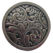 Classic Collection 1-3/8'' Diameter Saddleworth Round Cabinet Knob in Brite Nickel, 1-3/8'' Diameter x 7/8'' D