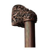 King's Road Collection 12'' Wide Acanthus Fluted Bar Appliance Pull in Antique Copper, 12'' W x 2-1/2'' D x 2-1/8'' H