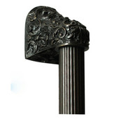 King's Road Collection 12'' Wide Acanthus Fluted Bar Appliance Pull in Dark Brass, 12'' W x 2-1/2'' D x 2-1/8'' H