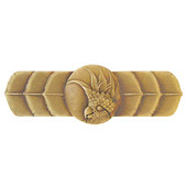 Tropical Collection 4-1/4'' Wide Cockatoo (Horizontal - Right Side) Cabinet Pull in Antique Brass, 4-1/4'' W x 7/8'' D x 1-1/2'' H