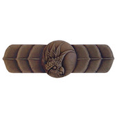 Tropical Collection 4-1/4'' Wide Cockatoo (Horizontal - Left Side) Cabinet Pull in Dark Brass, 4-1/4'' W x 7/8'' D x 1-1/2'' H
